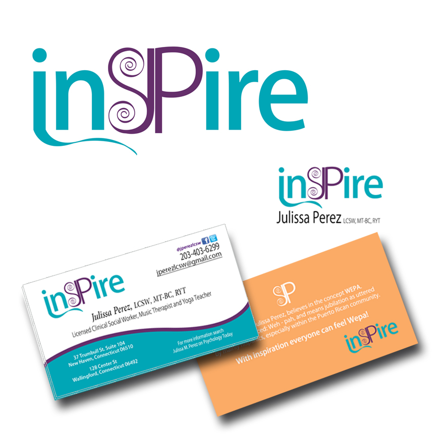 Inspire Therapy Logo And Business Card Design By Efece Creativa